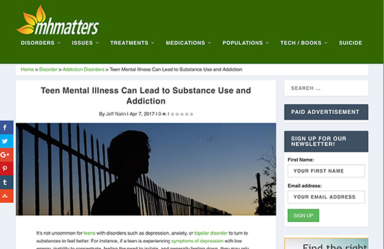 Mental Health matters website
