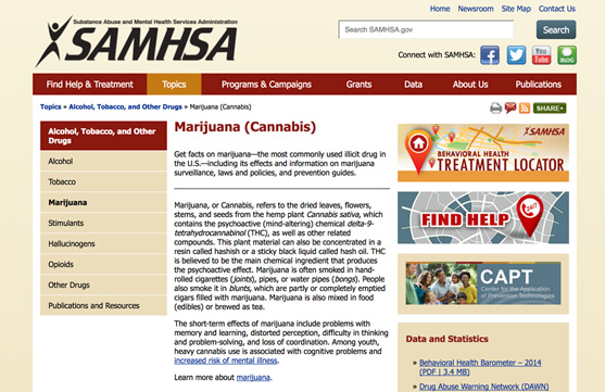 SAMHSA marijuana website