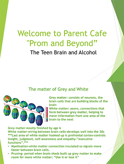 Parent Cafe Prom and Beyond